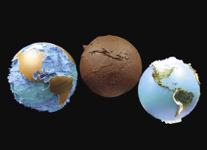 Raised Relief Mars Globe Brings The Red Planet Closer - Globe elevation