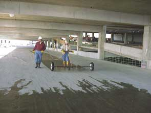 Surtreat applied to a parking garage