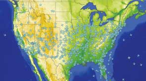 Comprehensive Software Eases Air Traffic Management - Us-air-traffic-map