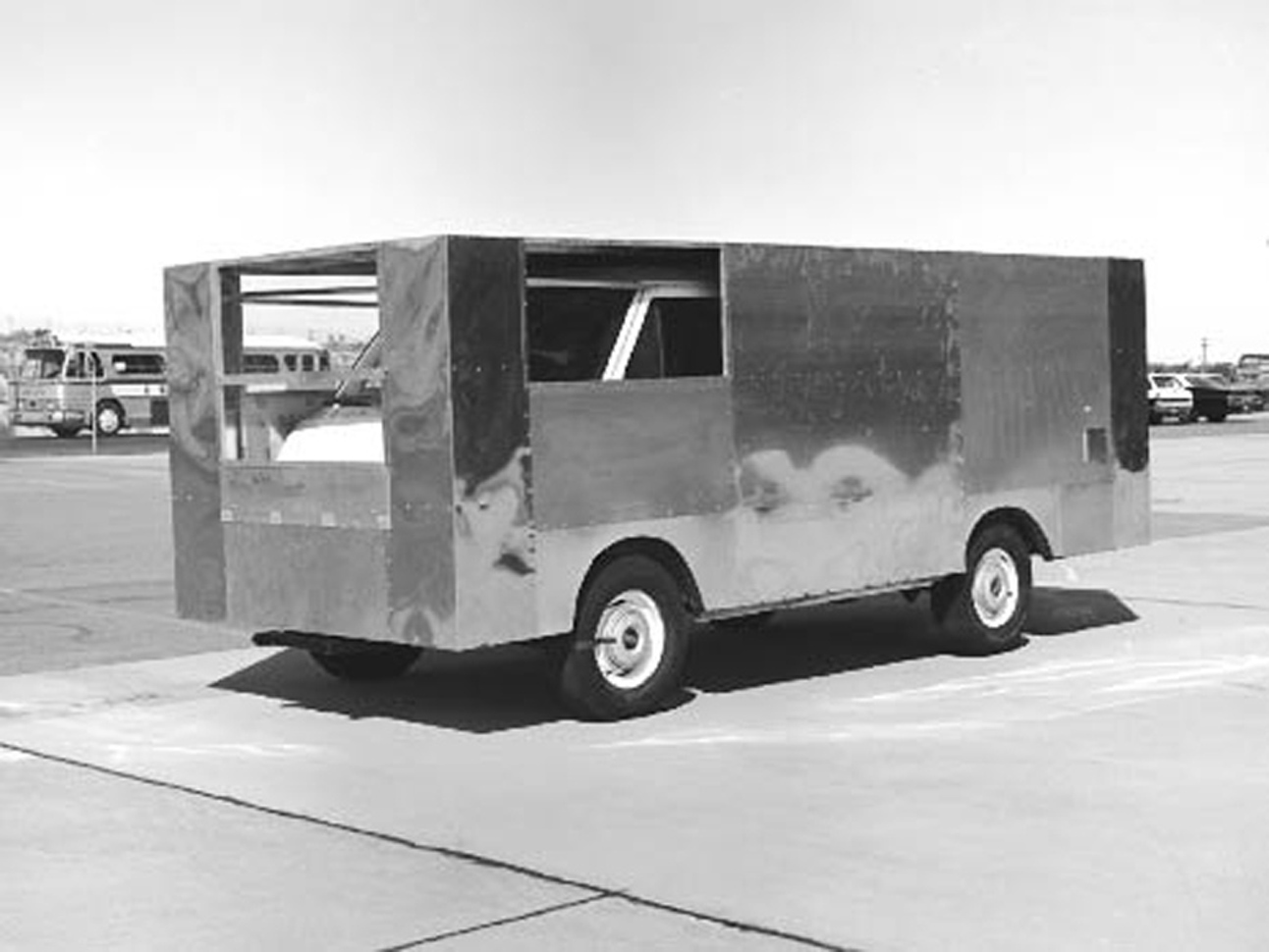 Dryden engineers modified a retired delivery van to test aerodynamic