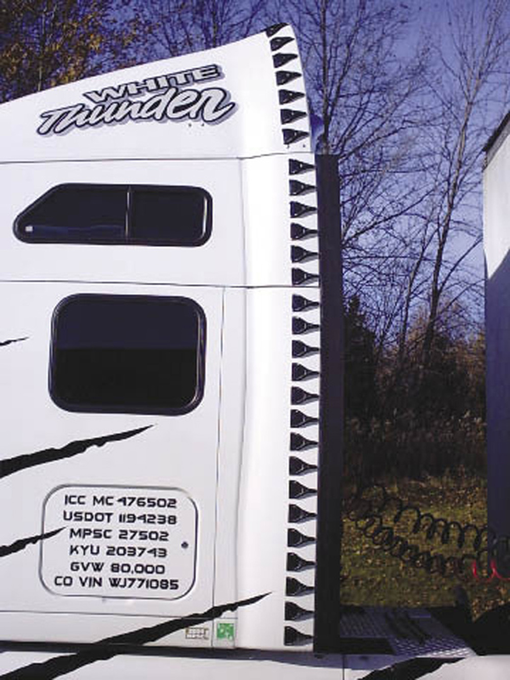 Airtabs create controlled counter rotating vortices to bridge the gap between tractor and trailer or control airflow past the rear of the vehicle
