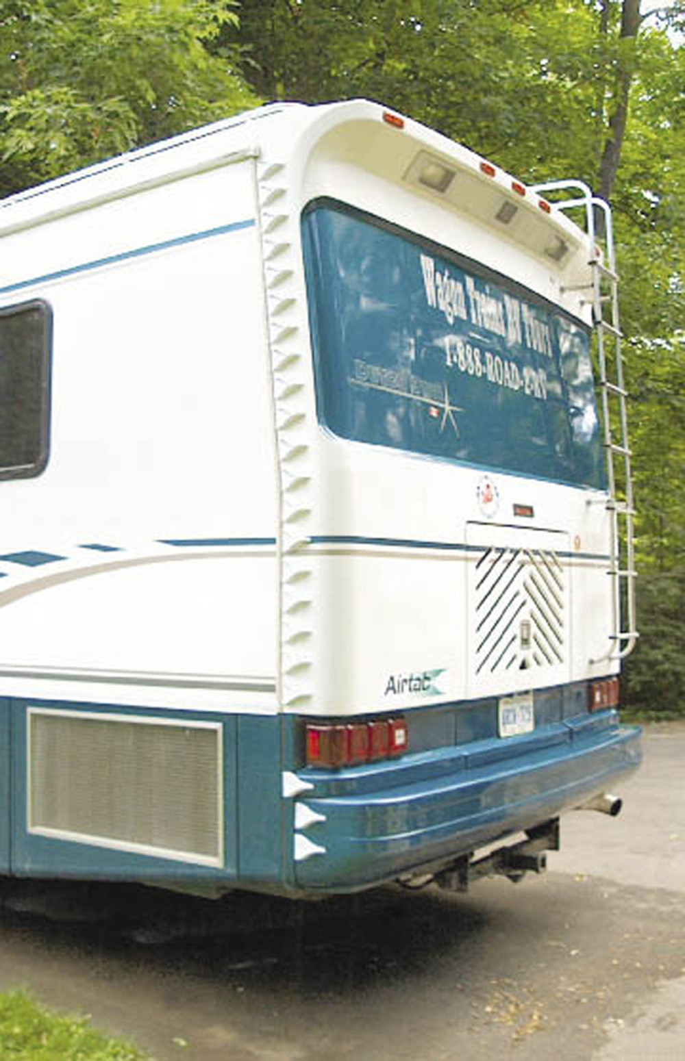 Airtabs on the back of a recreational vehicle
