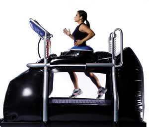 weightless running machine