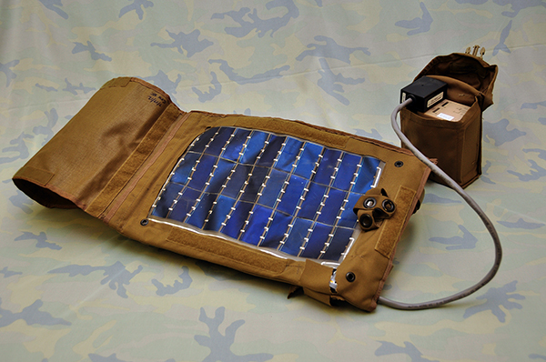 Solar panel used by troops in the field