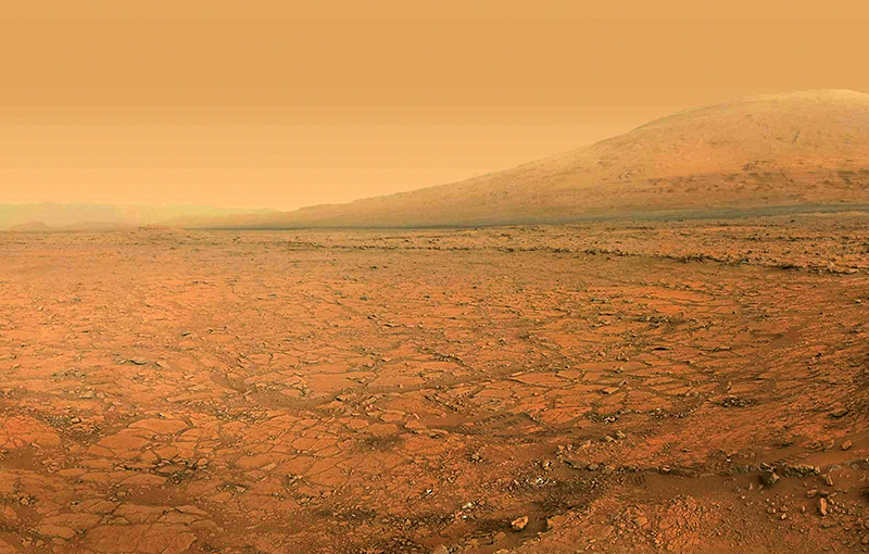 The Martian landscape, as imaged by Curiosity