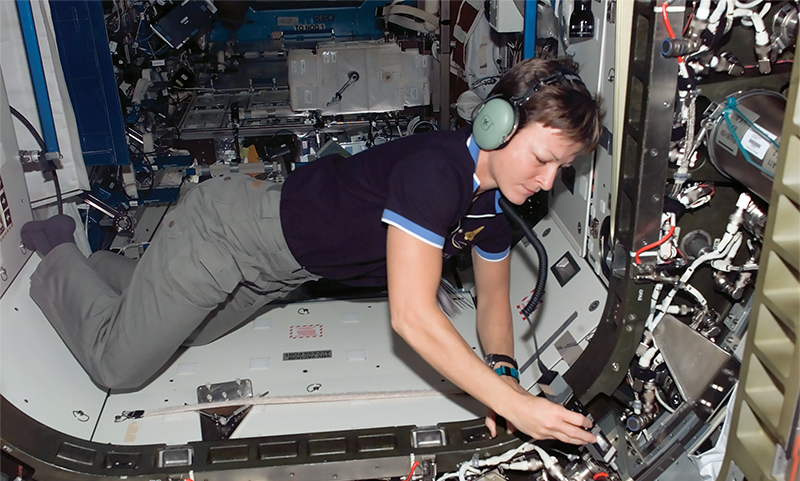 Astronaut Peggy Wilson on the International Space Station
