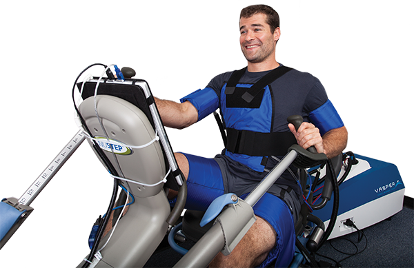 Man exercising using Vasper system
