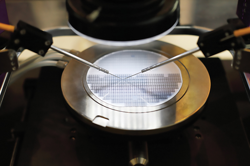 Instruments testing during silicon chip manufacturing
