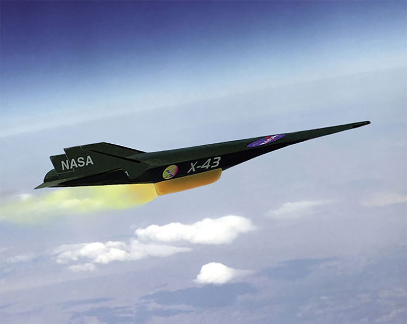 The X-43 hypersonic aircraft in flight