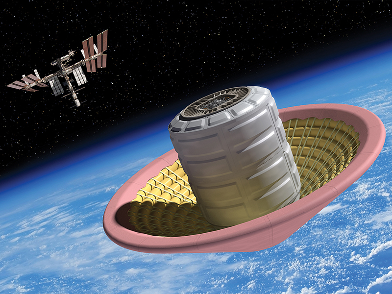 Depiction of inflatable heat shield