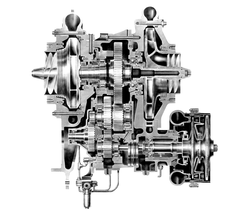 Internal view of a Rocketdyne Mark-3 turbopump