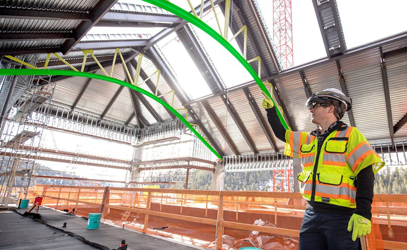 Microsoft HoloLens, now used in the Trimble hard hat for construction project support.