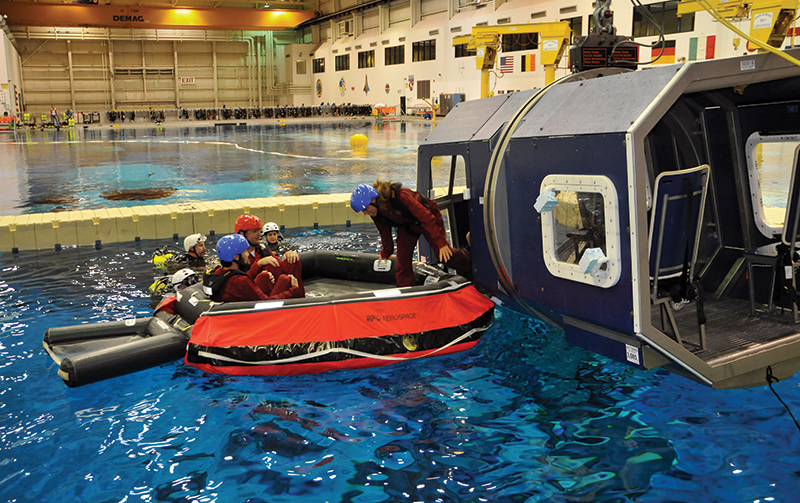 Group training in Johnson Space Center's Neutral Buoyancy Lab