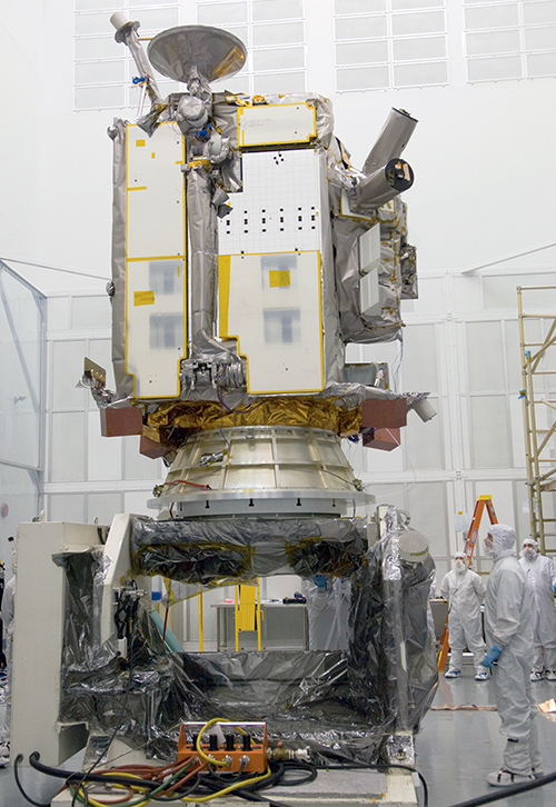 Lunar Reconnaissance Orbiter in a clean room
