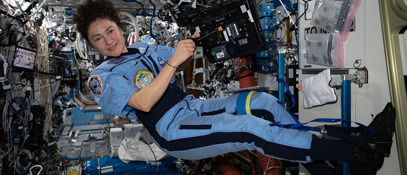 NASA Astronaut Jessica Meir onboard the International Space Station.