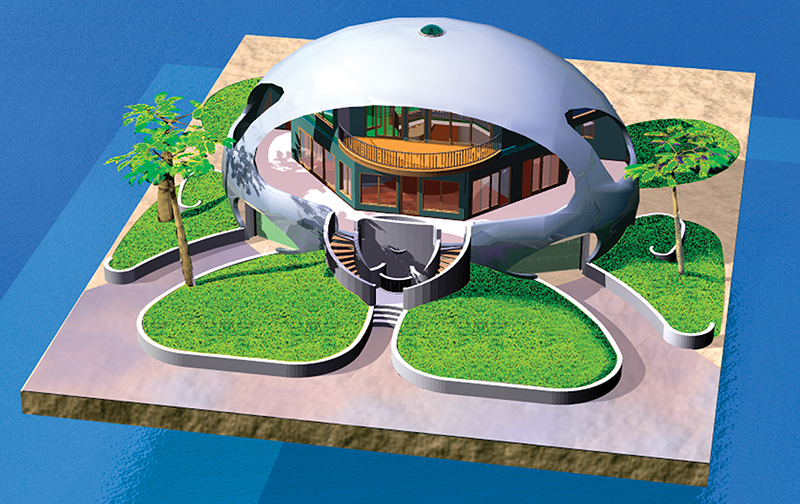 An energy-efficient, super storm-proof, dome home""