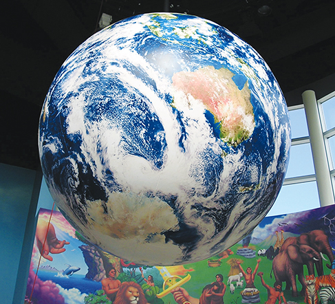 6-foot-diameter rotating globe