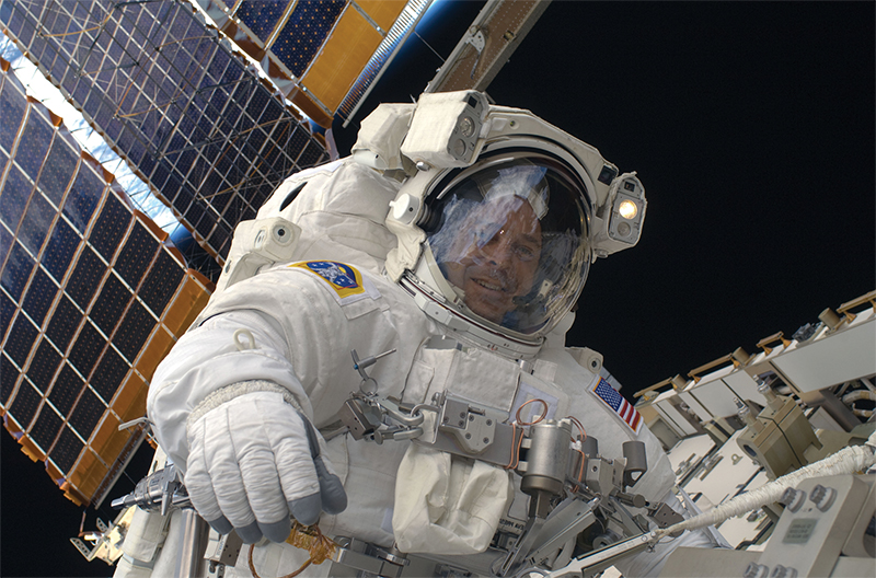 NASA astronaut Richard Arnold on a spacewalk