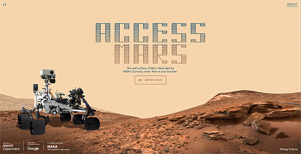 Access Mars home page