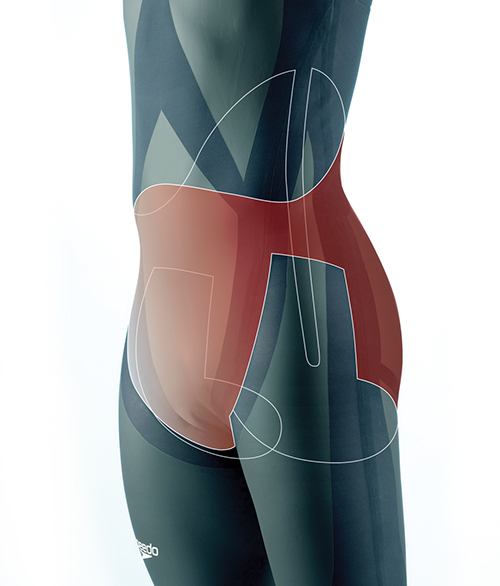 Key areas of compression in the LZR Racer swimsuit