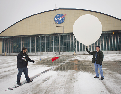 Weather balloon test at Glenn Research Center