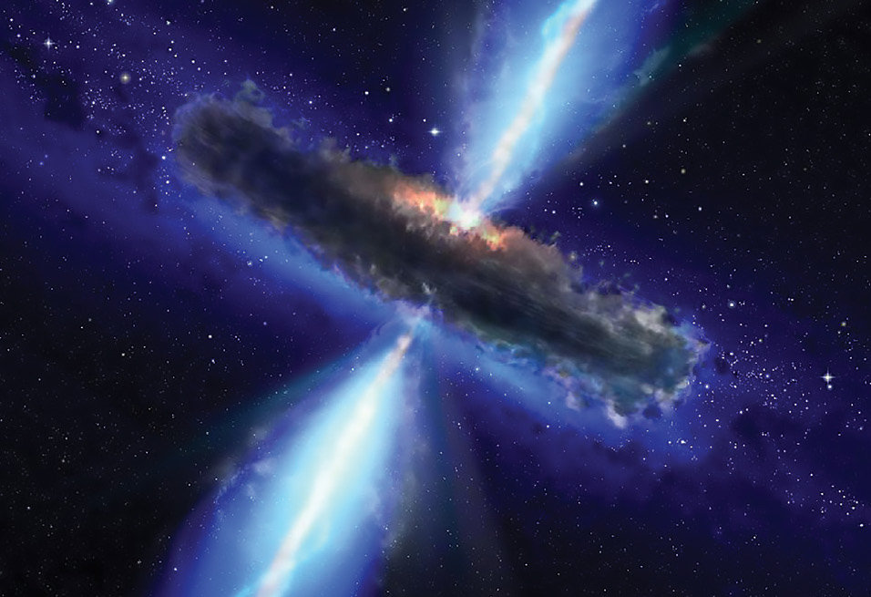 A rendering of a quasar