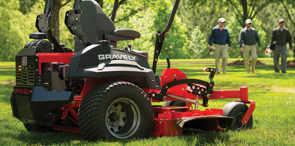 A gravely brand riding lawn mower
