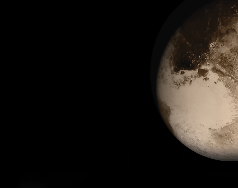 An image of the surface of Pluto
