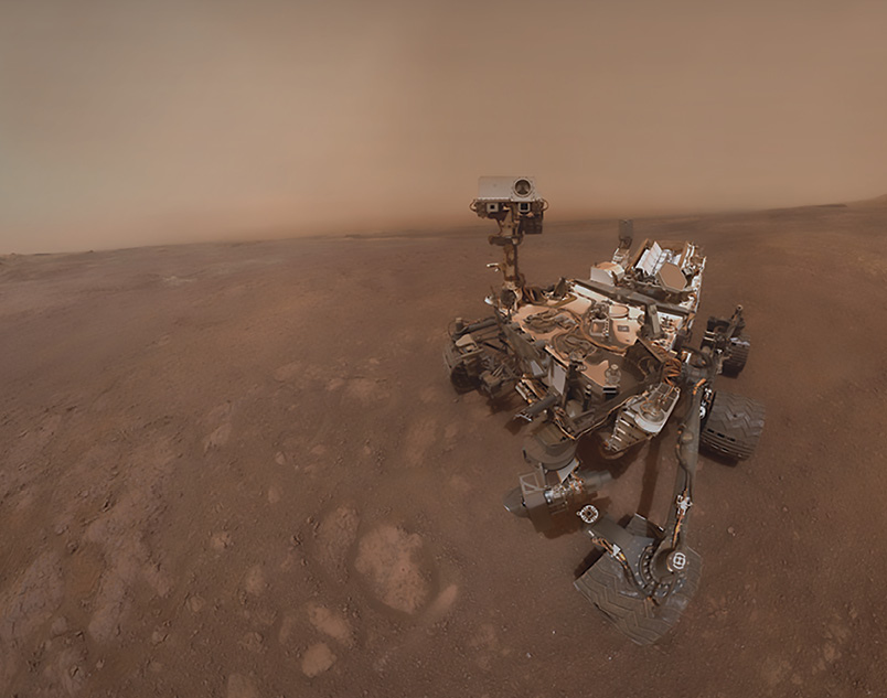 A self-portrait of the Curiosity rover