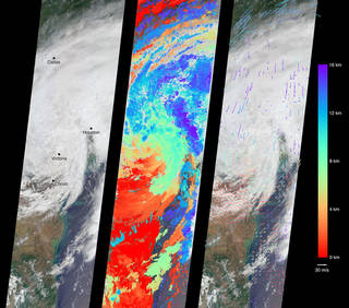 4 images of atmospheric science data