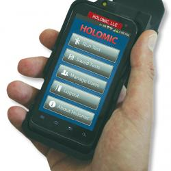 Holomic software running on a smartphone